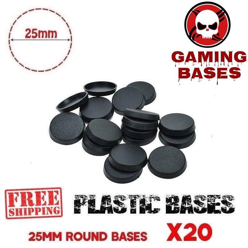 Lot 20Pcs 25mm Round miniature bases wargame warhammer 40000