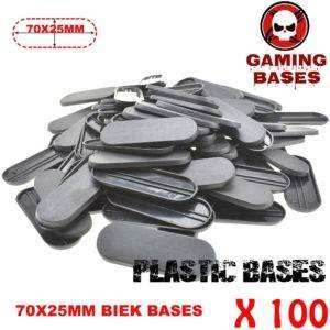 100Pcs 70x25mm miniature oval bases forge world WH 40k 70x25mm