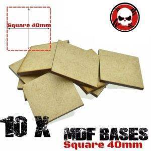 10Pcs 40mm MDF Square bases Laser cut wood Warhammer 40K MDF Square