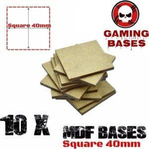 10Pcs 40mm MDF Square bases Laser cut wood Warhammer 40K