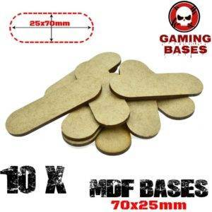 10Pcs Oval Pill 70x25mm AOS MDF Bases Laser Cut Wargames wood