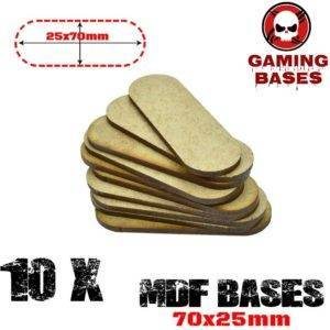 10Pcs Oval Pill 70x25mm AOS MDF Bases Laser Cut Wargames wood MDF Aos Oval