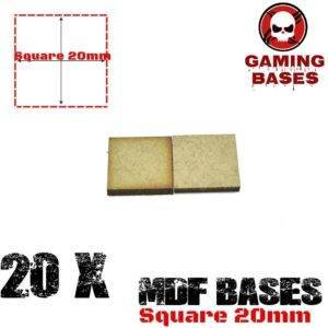 20Pcs 20mm MDF Square bases Laser cut wood Warhammer 40K