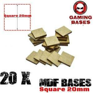20Pcs 20mm MDF Square bases Laser cut wood Warhammer 40K MDF Square