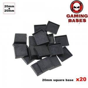 20Pcs 20mm square miniature plastic base warhammer 40k 20mm