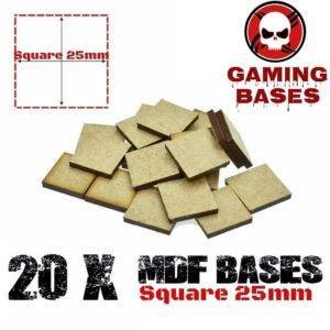 20Pcs 25mm MDF Square bases Laser cut wood Warhammer 40K