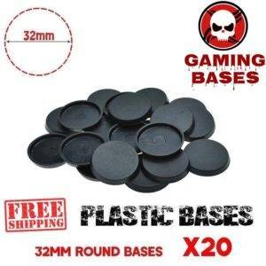 20Pcs 32mm round miniature plastic base warhammer 40k