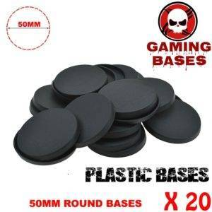 20Pcs 50mm miniature round bases forge world warhammer 40k