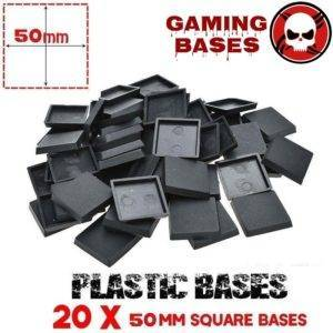 40Pcs 50mm miniature square bases forge world warhammer 40k 50mm