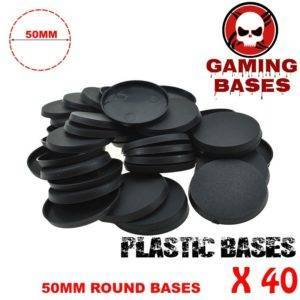 40Pcs 50mm miniature round bases forge world warhammer 40k