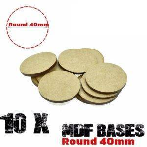 Lot 10Pcs 40mm MDF round bases wargame WH 40K Laser cut wood