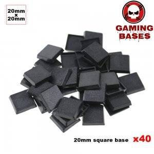 40pcs 20mm WH40K miniature square bases wargaming FW 20mm