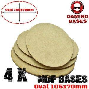 4Pcs Oval 105x70mm AOS MDF Bases Laser Cut Wargames wood base