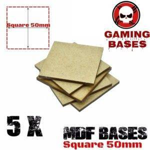 5Pcs 50mm MDF Square bases Laser cut wood Warhammer 40K MDF Square