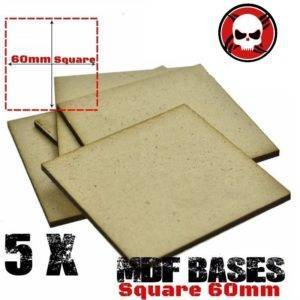 5Pcs 60mm MDF Square bases Laser cut wood Warhammer 40K