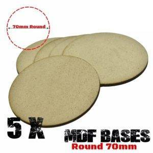 5Pcs 70mm MDF round bases Laser cut wood Warhammer 40K