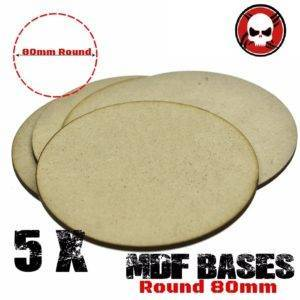 5Pcs 80mm MDF round bases Laser cut wood Warhammer 40K
