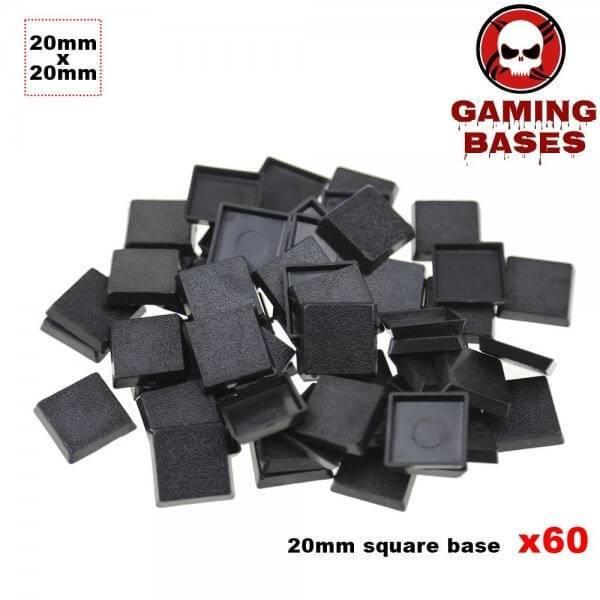 60Pcs 20mm miniature square bases forge world warhammer 40k 20mm