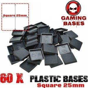 60Pcs 25mm miniature square bases forge world warhammer 40k