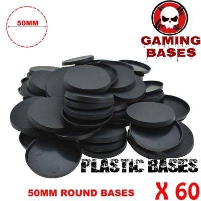 60Pcs 50mm miniature round bases forge world warhammer 40k