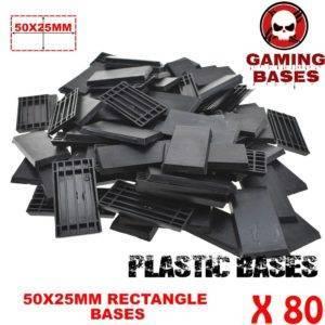 60Pcs 25x50mm miniature rectangular bases forge world warhammer 40k 50x25mm
