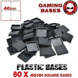 60Pcs miniature square bases 40mm warhammer 40000 gamingbases 40mm