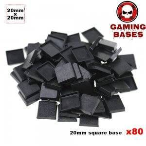80Pcs miniature square bases 20mm warhammer 40000 gamingbases 20mm