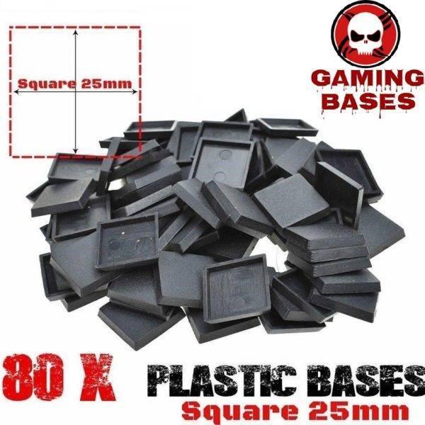 80Pcs miniature square bases 25mm warhammer 40000 gamingbases 25mm