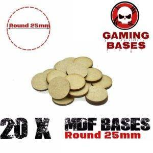 Lot 20Pcs 25mm MDF round bases wargame WH 40K Laser cut wood