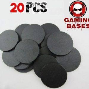 Lot 20pcs 60mm WH40K miniature round bases wargaming FW 60mm