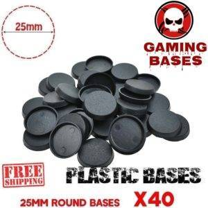 Lot 40Pcs 25mm Round Plastic Base gaming bases WRH 40K