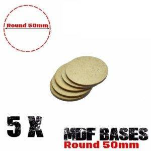 Lot 5Pcs 50mm MDF round bases wargame Laser cut wood WH 40K