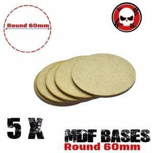 5Pcs 60mm MDF round bases Laser cut wood WH 40K