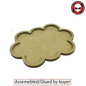 Gaming Bases Movement Tray 10 x 32mm round Derangements Shape Movement Tray Round 32mm distance: 0mm