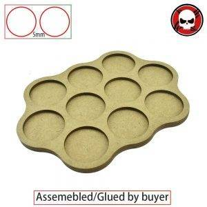 Gaming Bases Movement Tray 10 x 32mm round Derangements Shape