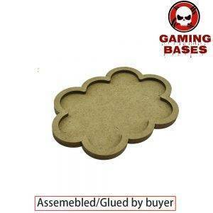 Gaming bases 10 x 25mm round movement Tray Derangements Shape