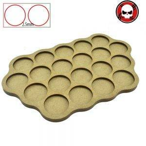 Gaming bases 20 x 25mm round movement Tray Derangements Shape Movement Tray Round 25mm distance: 5mm|2.5mm|0mm