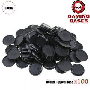 30mm Plastic lipped bases table games model bases 30mm lipped round