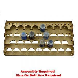 36mm Hole - 34 Citadel Paint Rack-Laser Cut Wood - MDF-Paints Storage
