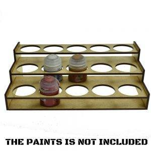 36mm Hole -Citadel 15 Paints Rack -Laser Cut Wood MDF Paints Storage 36mm Hole Type: 3MMTHICKNESS