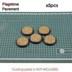 Kraft Card Texture Bases - 30mm lipped bases - Texture Bases for Wh40k