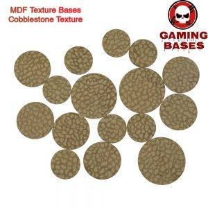 MDF Texture Bases - 25mm - 40mm Cobblestone Bases -Texture bases