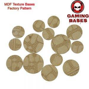 MDF Texture Bases - 25mm - 40mm Factory Pattern Bases -Texture bases