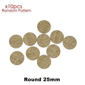 MDF Texture Bases - 25mm-40mm Necronic Pattern Bases-Texture bases