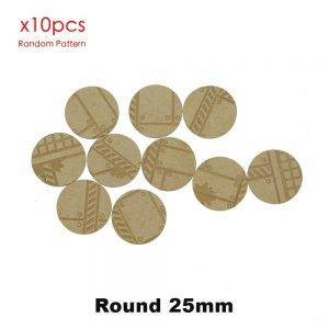 MDF Texture Bases – 25mm – 40mm Factory Pattern Bases -Texture bases MDF Texture type: MDFbases
