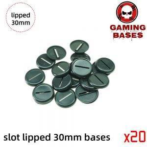 30mm Slot lipped bases table games model bases 30mm lipped round 30mm Type: 100x30mm