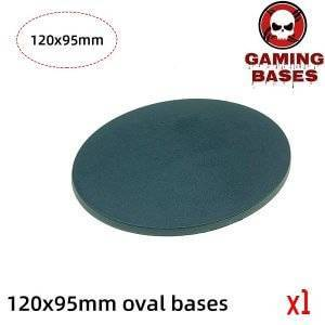 120 x 95mm oval base Model Plastic Bases for wargames 120x95mm Color: 1