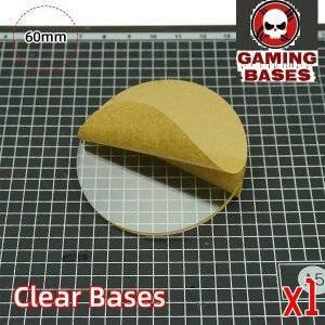 60mm TRANSPARENT / CLEAR BASES for Miniatures warhammer 40k 60mm Color: 1 bases