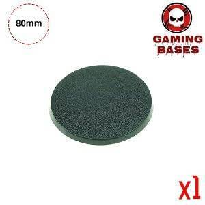 Gaming bases- 80mm round bases 80mm Color: 1 bases