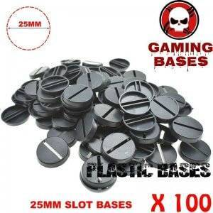 100pcs Round slot bases 25mm for gaming miniatures and table games 25 mm Brand Name: GamingBases